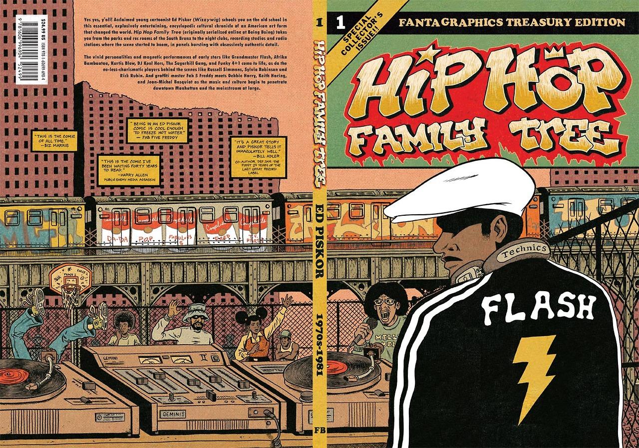 """Coperta cărții de benzi desenate """"Hip Hop Family Tree"""" vol. 1 în prima variantă de editare (foto: Fantagraphics)"""