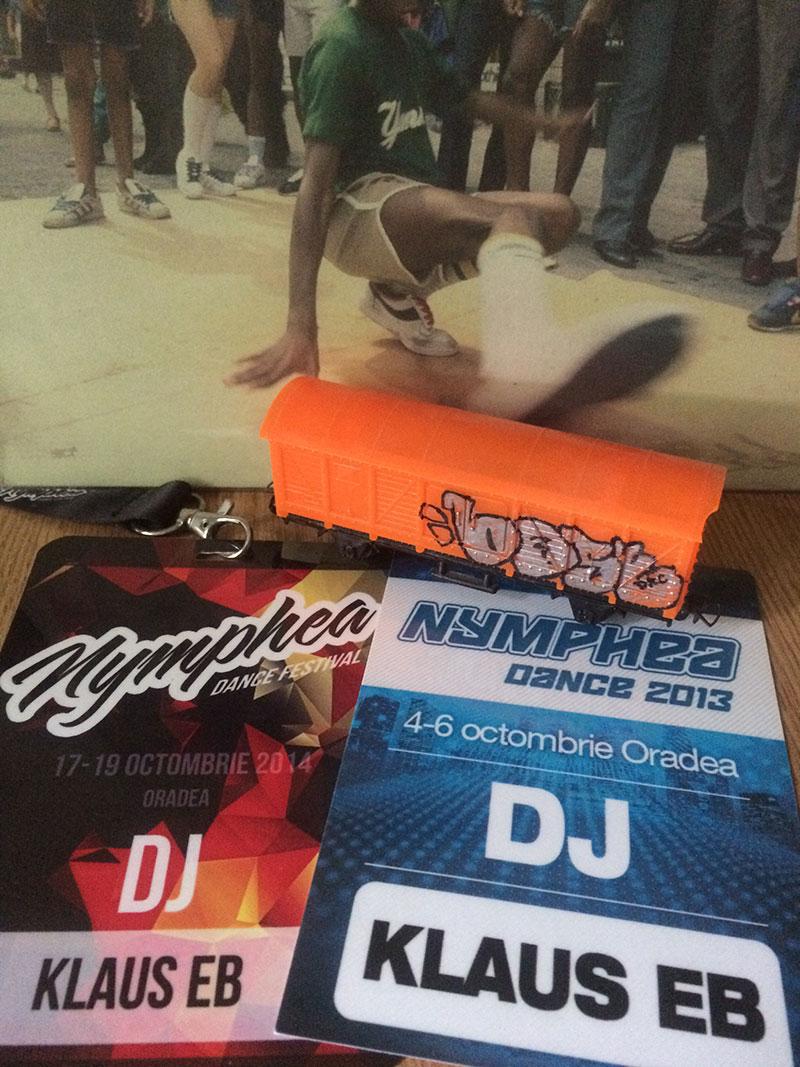 DJ Klaus EB la diferite ediții Nymphea Dance Oradea